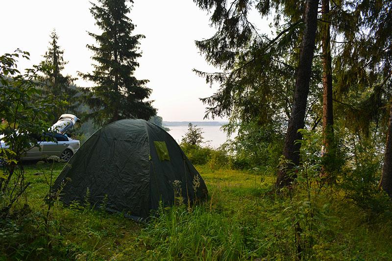 отдых с палатками на можайском водохранилище